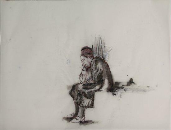 weary woman Art Print