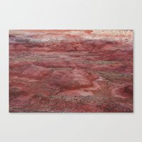 Desert Striations I Canvas Print