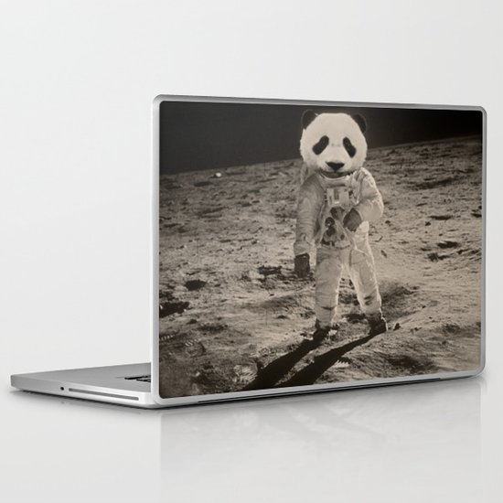 One Small Step For Man, One Giant Panda For Mankind Laptop & iPad Skin