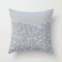 Ab Linear Grey Throw Pillow