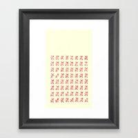 LCD Red Framed Art Print