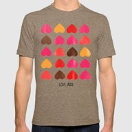 LOVE ASS Mens Fitted Tee Tri-Coffee SMALL
