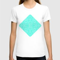 Radiate (Mint) Womens Fitted Tee White SMALL