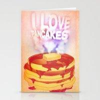 I Love Pancakes Stationery Cards