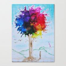 Tree Of Colour Canvas Print