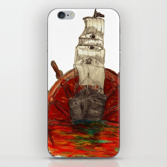 Steering into a new setting iPhone & iPod Skin