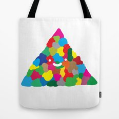 happy colour triangle Tote Bag