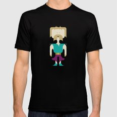 I Fight With Words, Human! SMALL Mens Fitted Tee Black