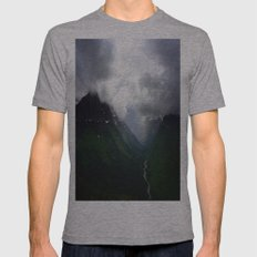 Mystic Mountains Mens Fitted Tee Athletic Grey SMALL