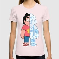 Steve Universe Cut-away Womens Fitted Tee Light Pink SMALL