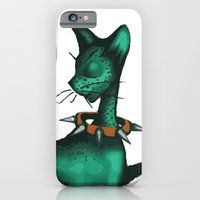 Green Spotted Kitty iPhone 6 Slim Case