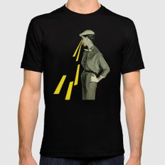 Observing SMALL Mens Fitted Tee Black