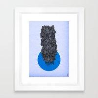 - future grey - Framed Art Print