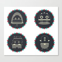 monster & iCOn Canvas Print