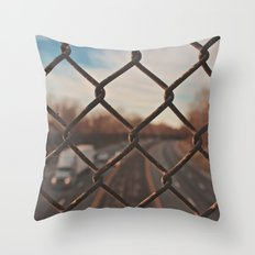The Gated Highway Throw Pillow