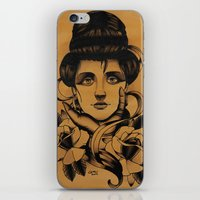 WOMAN And Roses - TATTOO iPhone & iPod Skin