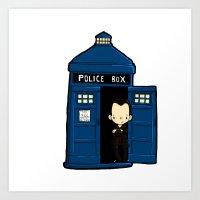 DOCTOR WHO IN TARDIS NIN… Art Print