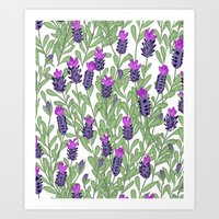April Blooms(lavender) Art Print