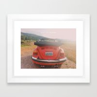 NEVER STOP EXPLORING II - vintage vw bug Framed Art Print