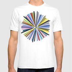Colours SMALL Mens Fitted Tee White