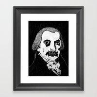 04. Zombie James Madison… Framed Art Print