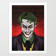 Joker HaHaHeHeHiHi Art Print