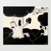 A Sunny, Beardy Afternoon Canvas Print