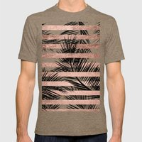 Trendy Tropical Palm Tre… Mens Fitted Tee Tri-Coffee SMALL