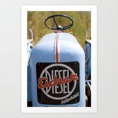 Eicher Diesel Tractor Art Print