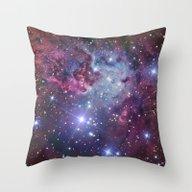 Nebula Galaxy Throw Pillow