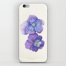 Purple Pansies iPhone & iPod Skin