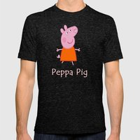 peppa pig Mens Fitted Tee Tri-Black SMALL