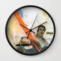 VACANCY Zine Wall Clock