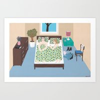 The Sleep Over Art Print