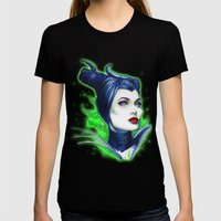 Maleficent Womens Fitted Tee Black SMALL