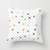 Pin Point Hearts Throw Pillow
