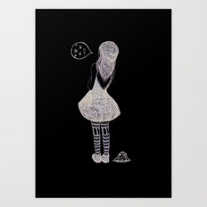 Snow? Art Print