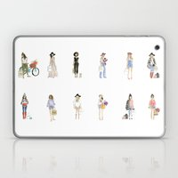 Watercolor Calendar Girls  Laptop & iPad Skin