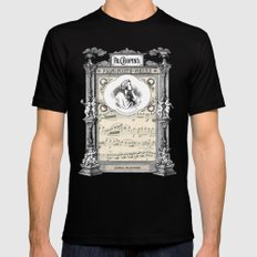 Frederick Chopin Polonaise art Mens Fitted Tee Black SMALL