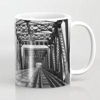 Train Bridge 3 - B&W Mug