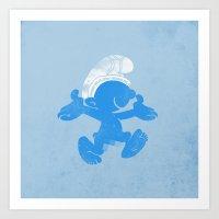 KRAZY BLUE Art Print