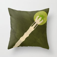 Minimalist Sonic Screwdriver Throw Pillow