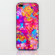 iPhone & iPod Skin featuring FLORAL FANTASY Bold Abst… by EbiEmporium