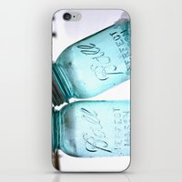 Blue Ball Jars iPhone & iPod Skin