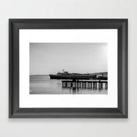 Coho At Dock Framed Art Print