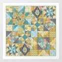 Starlight Patchwork  Art Print