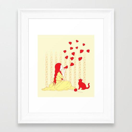 Bubbly Hearts Framed Art Print
