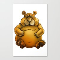 Beary Sorry. Canvas Print