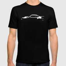 1980 Porsche 930 Turbo Mens Fitted Tee Black SMALL