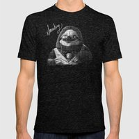 The Fanciest Sloth Mens Fitted Tee Tri-Black SMALL